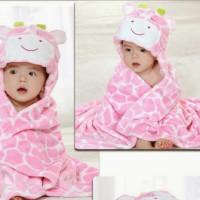Pink Giraffe Bath Towel